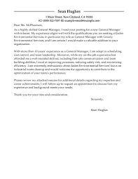 general resume cover letter exles leading professional general manager cover letter exles