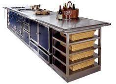 ex display kitchen island ex display la cornue island stainless steel worktop and le