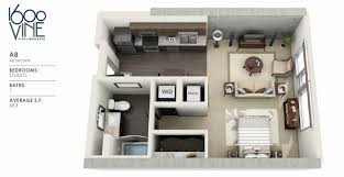 wonderful studio apartment floor plans and decorating ideas