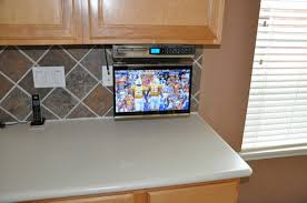 tv in kitchen ideas cabinet tv mount for kitchen home design resort