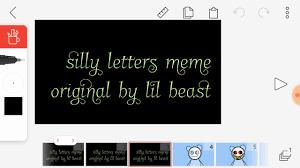 Meme Letters - silly letters meme youtube