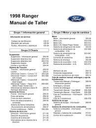manual ford ranger español 98 02 2 3 2 5 2 8 4 0