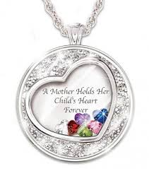 day necklaces mothers day necklaces forever in a mothers heart heart shaped