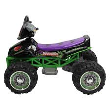 grave digger monster truck fabric monster jam grave digger quad atv riding toy hayneedle