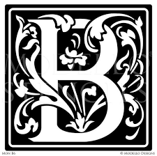 monogram letter b monogram wall custom lettering stencils from modello designs