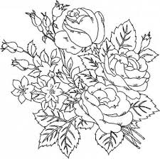 roses coloring pages adults 17433