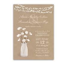wedding invitations kraft paper rustic kraft paper wedding invitation cotton branches