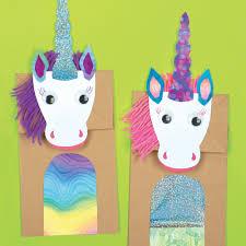 magical unicorns paper bag craft kit e me 3 unicorns