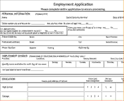 applications template basic employment application related for 4 basic application