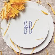 monogrammed dishes 96 best dinnerware monogrammed images on wedding