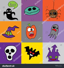 background halloween image doodle halloween holiday background halloween doodles stock vector