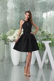 chic short black a line party graduation little black dresses