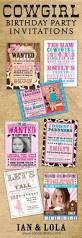 Halloween 1st Birthday Party Invitations Best 25 Cowboy Party Invitations Ideas On Pinterest Cowboy