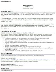 Hobbies Examples For Resume Support Worker Cv Example Icover Org Uk