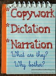 41 best copywork narration and dictation images on pinterest