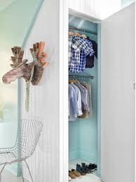 tips for organizing a small reach in closet hgtv u0027s decorating