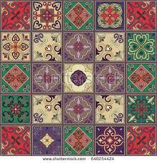 seamless pattern portuguese tiles talavera style stock vector