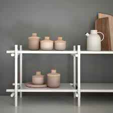 White Modular Bookcase by Stick Modular Shelving System By Menu White White