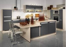 Kitchen Island With Table Kitchen Dark Gray L Shape Kitchen Cabinet With Medium Kitchen