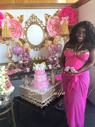 pink and gold baby shower dunnie o s gorgeous poolside pink gold baby shower bellanaija