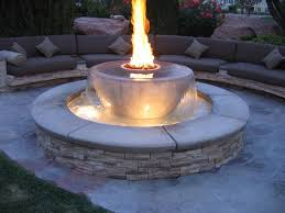 home design cinder block gas fire pit general contractors lawn