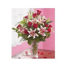 Roses And Lilies Illinois Florist Fabbrinis U0027 Flowers Dozen Red Roses And