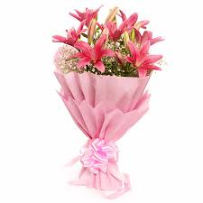 pink lilies pink asiatic lilies bouquet gift