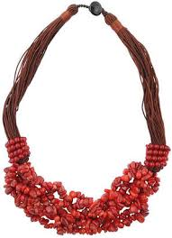 large red bead necklace images Red beaded necklace shopstyle jpg