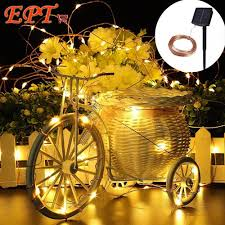 Christmas Lights Solar Powered by Wholesale Led Christmas Lights Solar 10m 100 Led Copper Wire