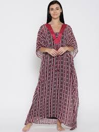 buy the kaftan company red printed kaftan maxi semi sheer