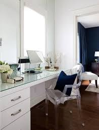 glass top vanity table glass top dressing table with ghost chair transitional closet