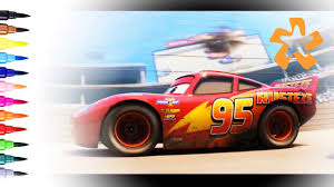 cars 3 how to draw and color lightning mcqueen rust eze 95