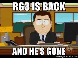 Rg3 Meme - bye bye rg iii