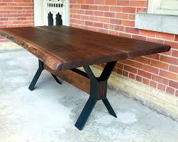 Walnut Dining Room by Live Edge Black Walnut Dining Table Custom Steel Legs Modern