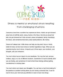 workbook u2014 coping skills for kids