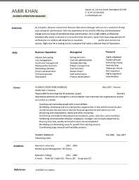 Commercial Manager Resume Business Operations Manager Resume Examples Cv Templates Samples