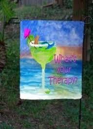 Mermaid Garden Decor Mermaid Wine What U0027s Your Therapy Garden Flag 20 00 Www