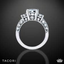 Tacori Wedding Rings by Tacori Classic Crescent Illuminate Three Stone Engagement Ring 2843