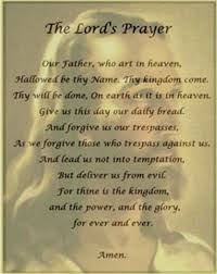 Thanksgiving Pray The Lords Prayer Lord Faith And Amen
