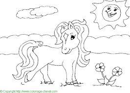 dessin de coloriage cheval à imprimer cp07338