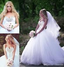 2015 bling bling ball gown wedding dresses white crystal beaded