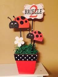 ladybug party centerpiece by dreamcometrueparties on etsy 15 00