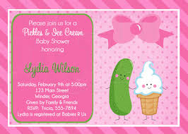2nd baby shower pickles baby shower or sprinkle for 2nd or 3rd