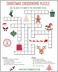 christmas crossword puzzle printable thrifty momma u0027s tips