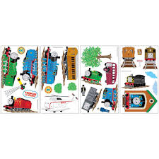 Thomas And Friends Decorations For Bedroom Roommates 5 In X 11 5 In Thomas And Friends Peel And Stick Wall
