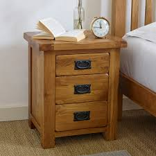 nightstand exquisite classic natural solid oak drawer nightstand