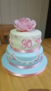 90th birthday cake pastel vintage cake shabby chic bunting