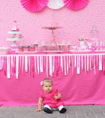 baby girl birthday themes adorable pretty in pink 1st birthday party hostess with the