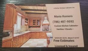 custom kitchen cabinets miami a better kitchen cabinets inc miami florida