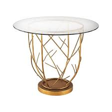 Glass Entry Table Dimond Home Thicket Entry Table In Gold Leaf And Clear Glass